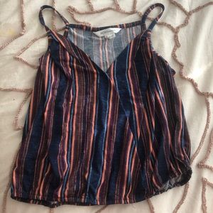 BCBGENERATION striped spaghetti strap top